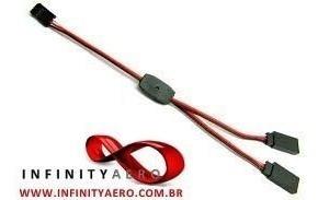 extensão para servos tipo y - 30cm - padrão jr