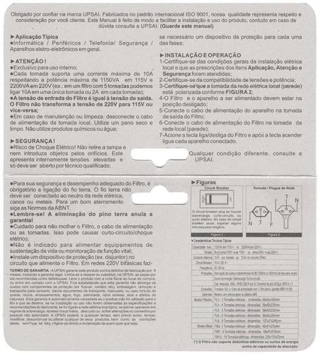 extensão / régua / filtro de linha - 10 tomadas profissional