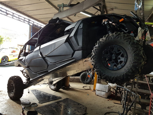 extensão skid plate can-am maverick x3 max 5mm