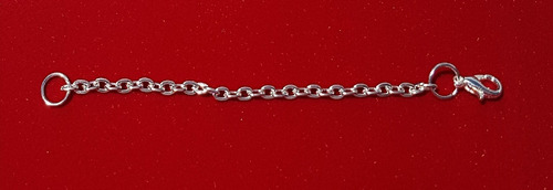 extensor colar 10cm x 2mm american banho ouro branco a1039