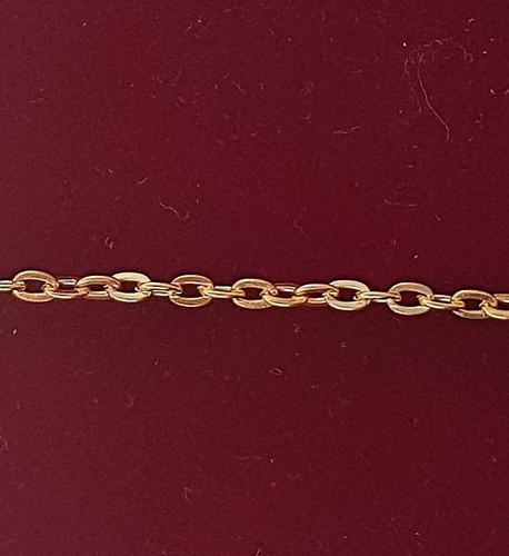 extensor colar com 2 fecho 10cmx2mm banho ouro america b1041