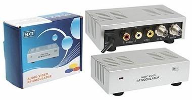 extensor de controle remoto + modulador rf para saídas rca