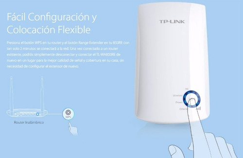 extensor de wifi repetidor 300mbps 2.4ghz tl-wa850re tplink