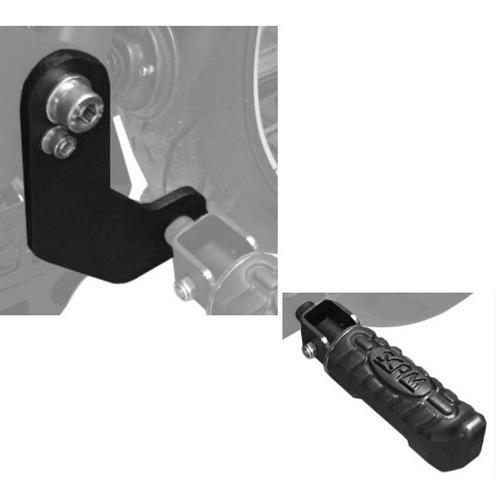 extensor e pedaleira para protetor de motor e carenagem scam