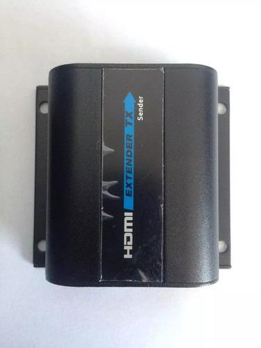 extensor hdmi e controle remoto hdmi extender 60m 1080p cat