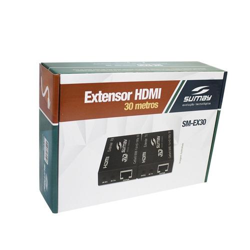 extensor hdmi sumay sm-ex30 30mt 3d 4k hispeed oferta c3