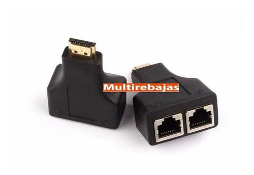 extensor para cable hdmi 30 mts por medio de cable red rj4