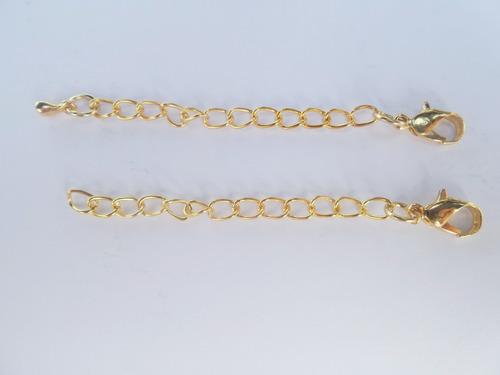 extensor para colar banho ouro 18k 7cm e fecho c808