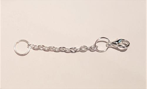 extensor para colar e/ou corrente prata 5cm com fecho f375
