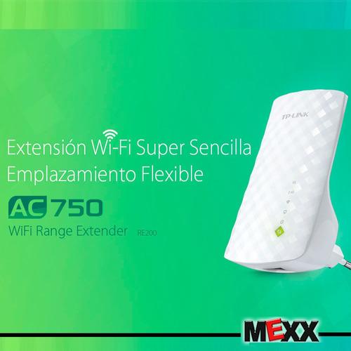 extensor señal wifi repetidor tp link re200 2.4 5 ghz mexx