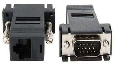 extensor vga a utp rj45 adaptador convertidor 38 mts unidad