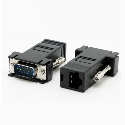 extensores de video vga a rj45 cat5y6 convertidor ele-gate