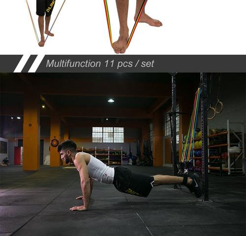 extensores elasticos funcionais c 11 peças home gym