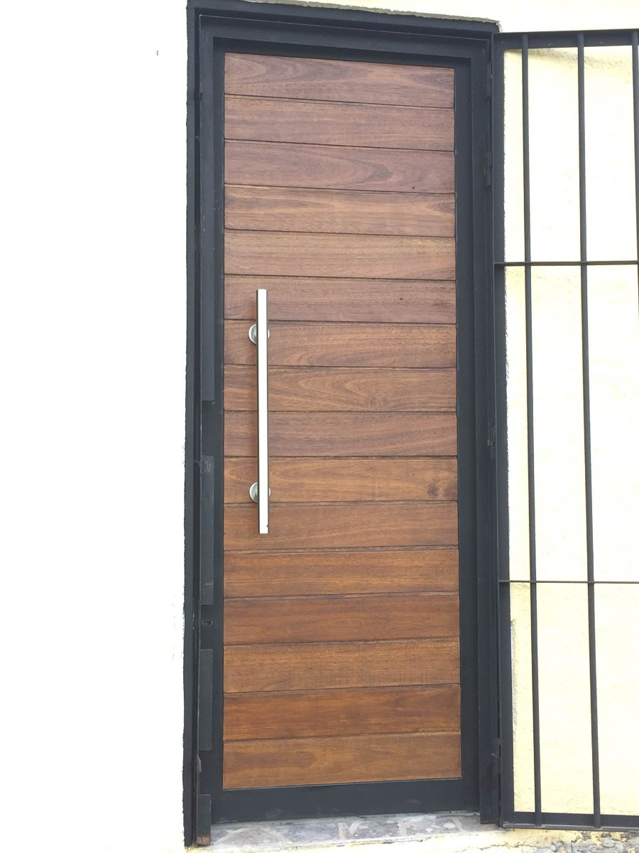 Puertas Exterior Hierro Y Madera A Medida!! - $ 28.000,00 en Mercado ...