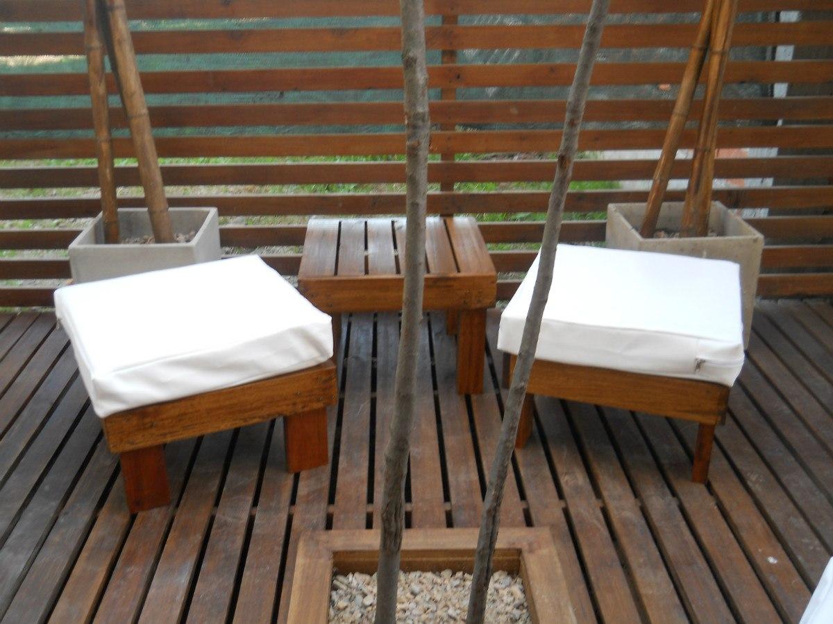Muebles jardin madera livings para exterior en aluminio y en madera mesa de plantacion btc - Muebles exterior madera ...