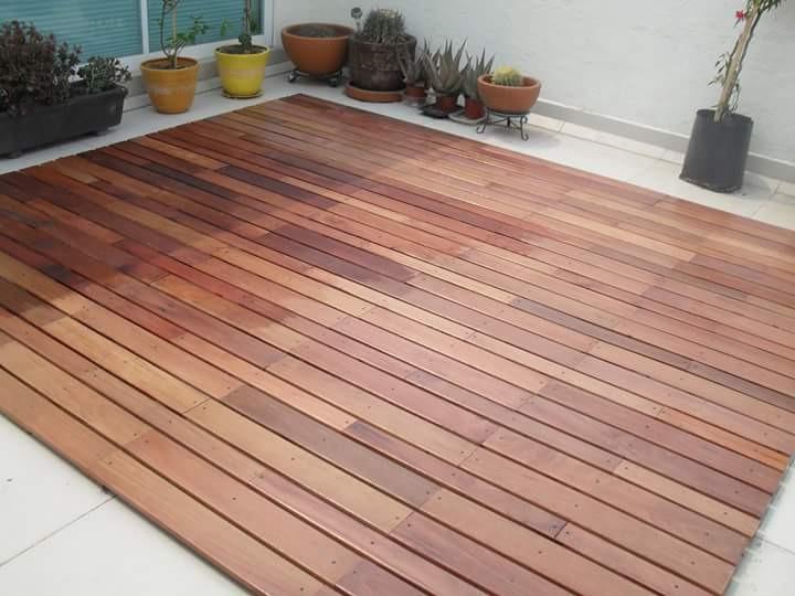 Exterior piso madera solida deck cumaru en - Maderas tropicales para exterior ...