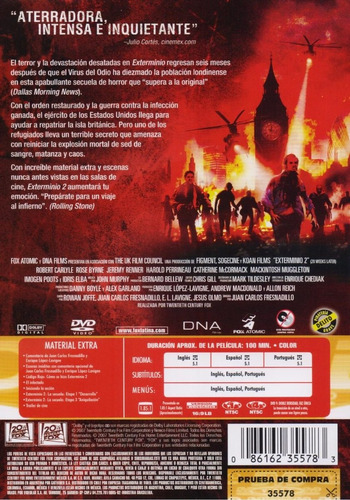 exterminio 2 dos 28 weeks later jeremy renner pelicula dvd