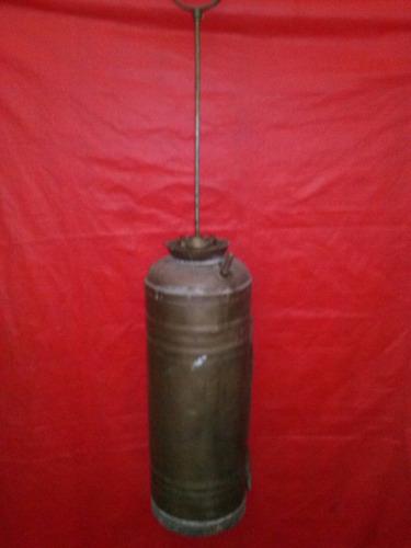 extintor antiguo bronce matafuego de época