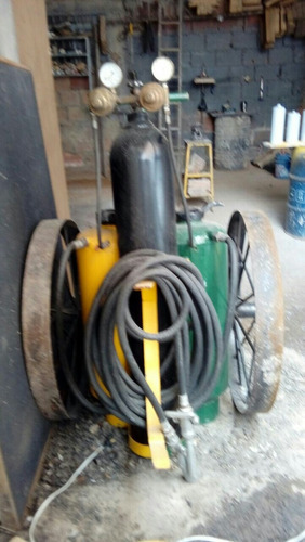 extintor carretilla polvo químico + agua presurizada