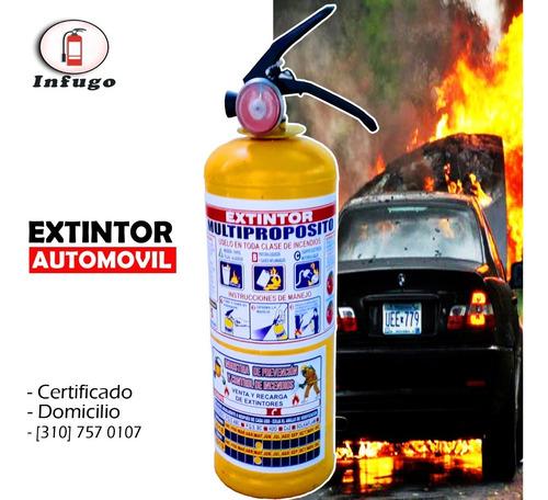 extintor de automóvil reglamentario