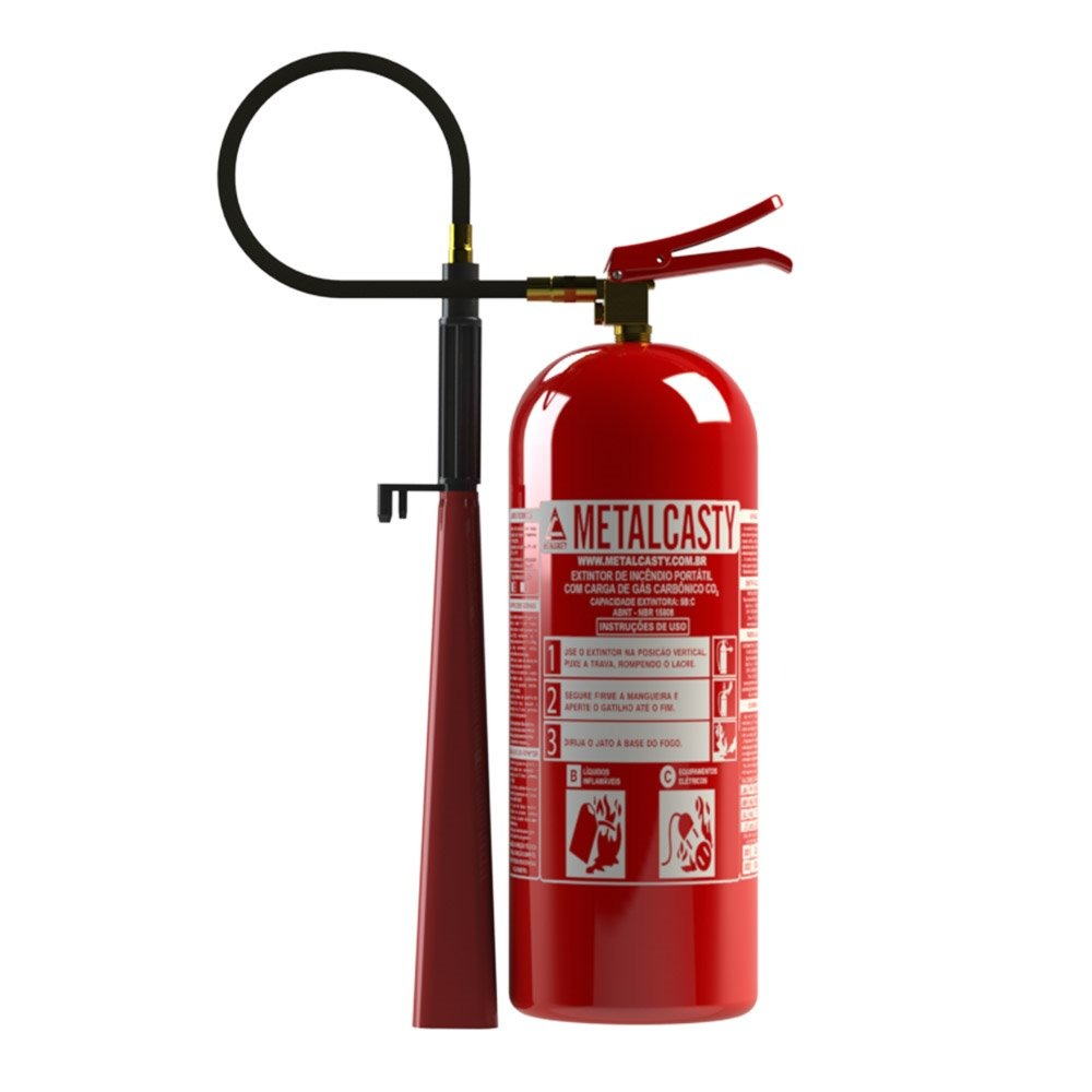 Extintor De Incendio Co2 6 Kg Novo + Suporte De Parede + Nfe - R ... 17482eddb6
