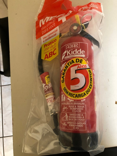 extintor kidde mega abc 2kg 5 anos comercial e residencial