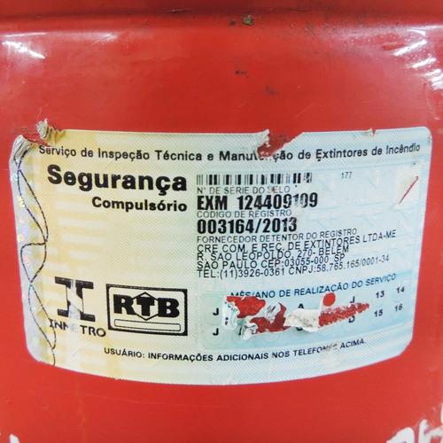 extintor portátil pressurizado de pó bc - x9 - marca cre