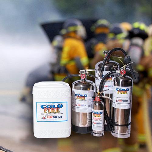 extintor profesional cold fire 4 litros plateado