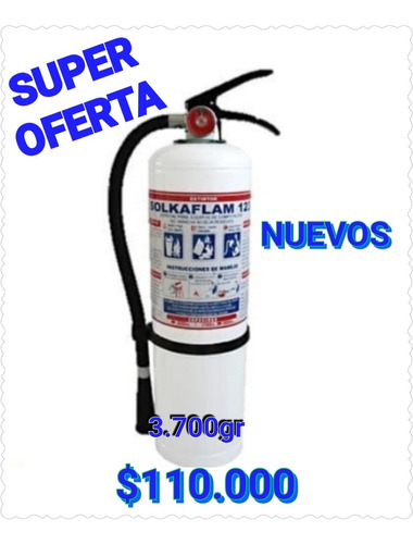 extintores nuevos de solkaflam de 3.700 gr