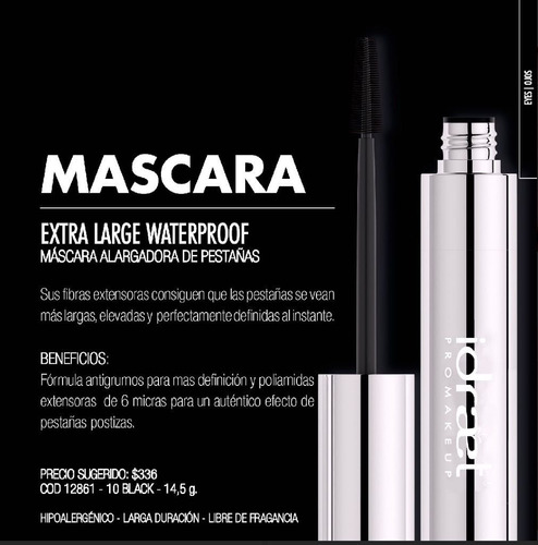 extra large waterproof mascara de pestañas idraet make up