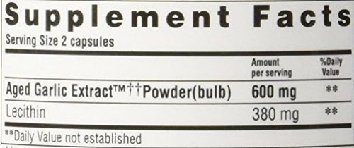 extracto ajo garlic extract cholesterol kyolic 300 cap
