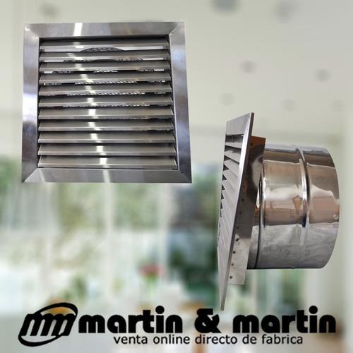 extractor aire axial potenciado 25 cm acero martin & martin