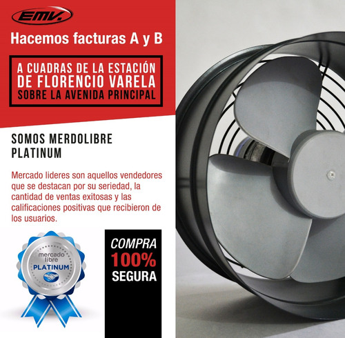 extractor aire emv semi industrial ø 30 cm reversible motor con rulemanes