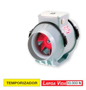 extractor aire para ductos 20 cms. multipropósito italiano
