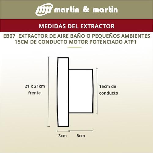 extractor baño rulemanes martin & martin motor potenciado