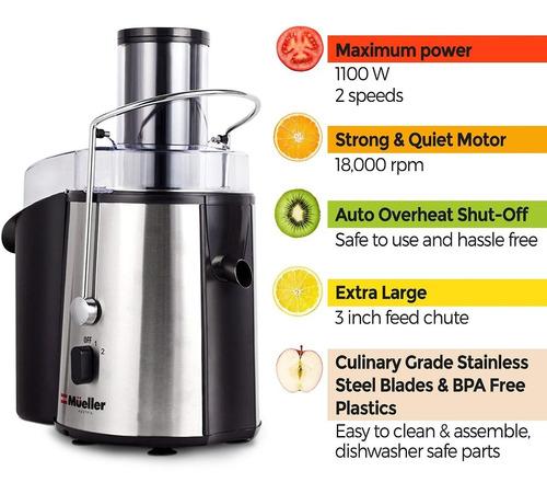 extractor centrifuga frutas vegetales mueller fácil limpieza