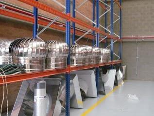 extractor centrifugo tipo hongo humo calor y olores