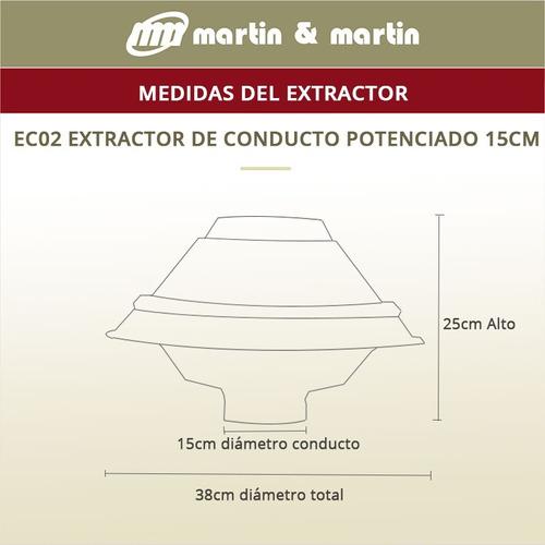 extractor conducto potenciado 15cm martin & martin ruleman
