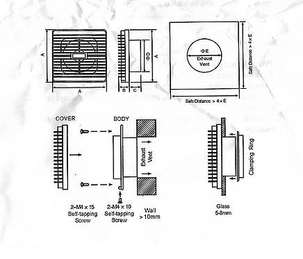extractor de aire 5  ventilación indoor 1020m3/h / ilku