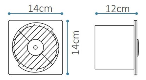 extractor de aire baño cocina 10 cm potenciado hydra vf1100b