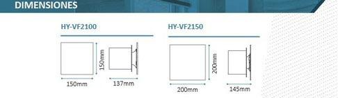 extractor de aire baño cocina 100mm hydra vidrio gtia 2 años