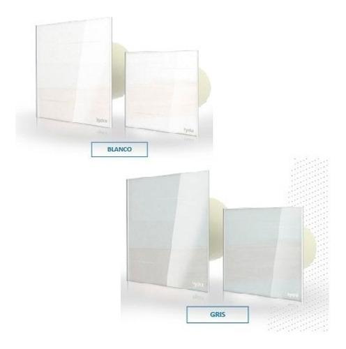 extractor de aire baño cocina hydra frente de vidrio 100mm e