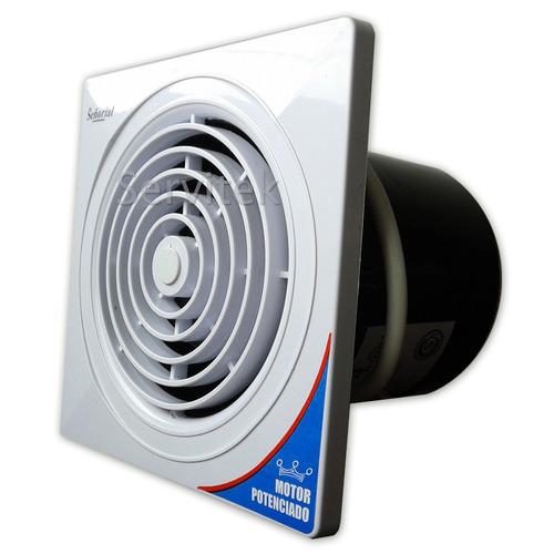 extractor de aire baño cocina señorial 6 | 15cm pared-vidrio