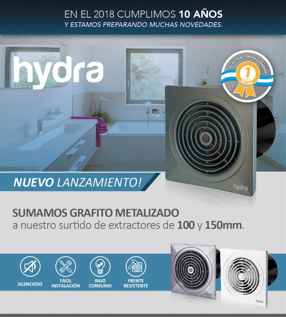 Milyon extractor de aire hydra 100mm cocina ba o - Extractor bano silencioso ...