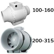 extractor de aire in-line para baños y locales pequeños