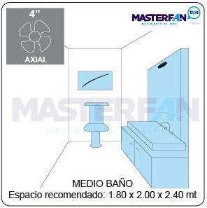 extractor de aire masterfan turbo 6 blco sanitario regadera