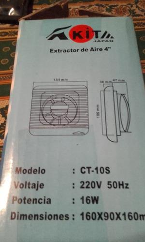 extractor de aire nuevo nikita 4  para vidrio