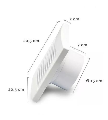 extractor de aire para baño de 6'' - tofema.