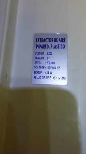 extractor de aire para pared de 8 pulgadas lumistar