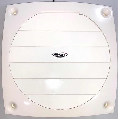 extractor de aire semi industrial 35 cm con persiana movil